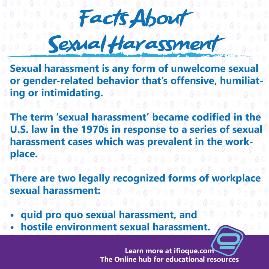 Sexual Harassment: Unwelcome Behaviors in Workplace